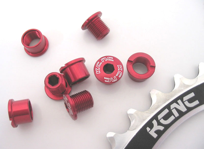 New MTB Road Bike Alloy 7075 Single Speed 6.5mm Chain Ring Bolt Nut Set Red